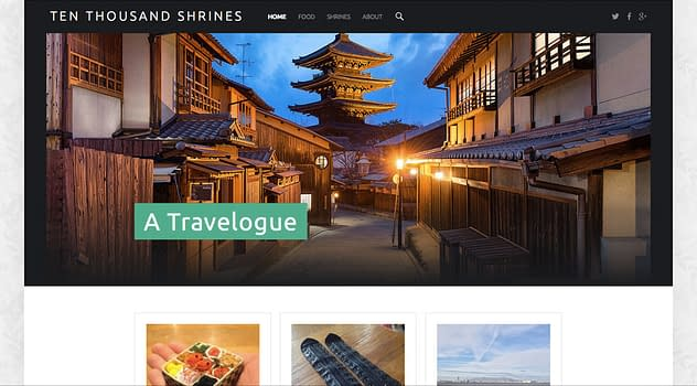 Ten Thousand Shrines Travelogue Website written, photographed, and designed by Peter Chordas