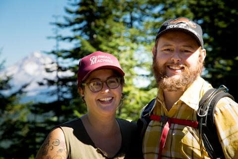 Hikers on one of Bark's free hikes in Mt. Hood