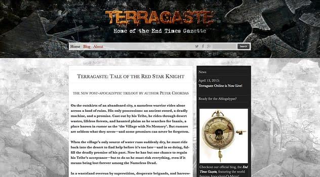 Terragaste Website designed and written by Peter Chordas