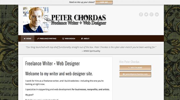 Peter Chordas Website designed and written by Peter Chordas