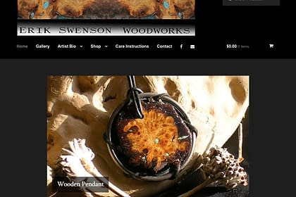 Eric Swenson Woodworks website designed by Peter Chordas