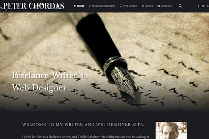 Peter Chordas Website Update designed and written by Peter Chordas
