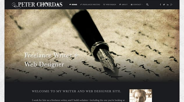 Peter Chordas Website Update designed and written by Peter Chordas