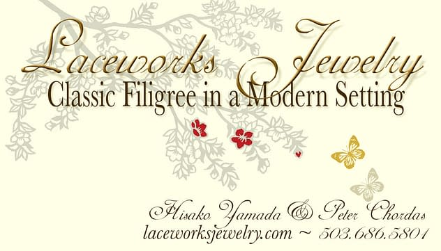 Laceworks Jewelry Business Card