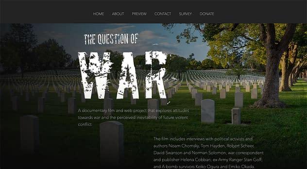 The Question of War Website