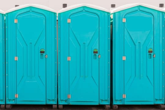 Picture of outhouses for part one of the infamous Toilet Tour by Peter Chordas