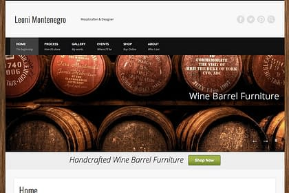 Leoni Montenegro Website designed by Peter Chordas
