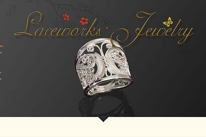 Laceworks Jewelry Website designed and written by Peter Chordas
