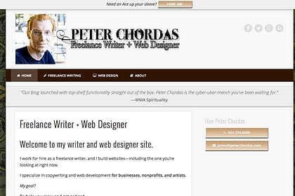 Peter Chordas Website designed and written by Peter Chordas