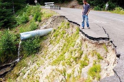 Bad road on Mt. Hood