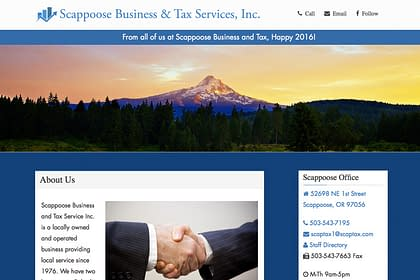 Scappoose Business & Tax website