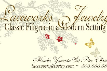 Laceworks Jewelry Business Card designed by Peter Chordas