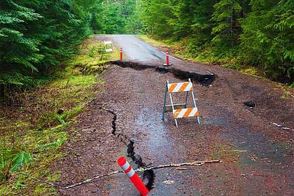 Broken road on Mt. Hood