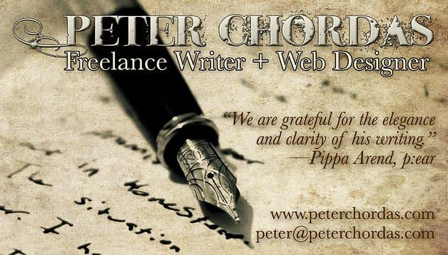 Peter Chordas Bilingual Business Card (English)