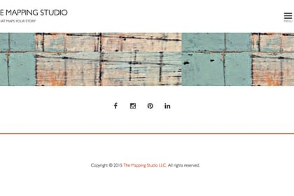 The Mapping Studio Website web development by Peter Chordas