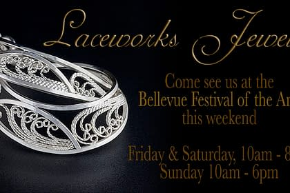 Laceworks Jewelry Bellevue 2015 photographed, written, and designed by Peter Chordas