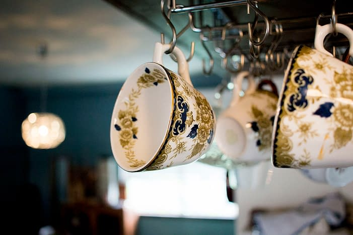 Teacups at Cafe Sennd, Seno, Hiroshima