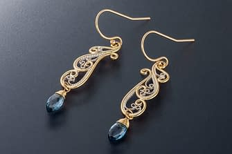 Art Nouveau Earrings by Laceworks Jewelry, photographed by Peter Chordas